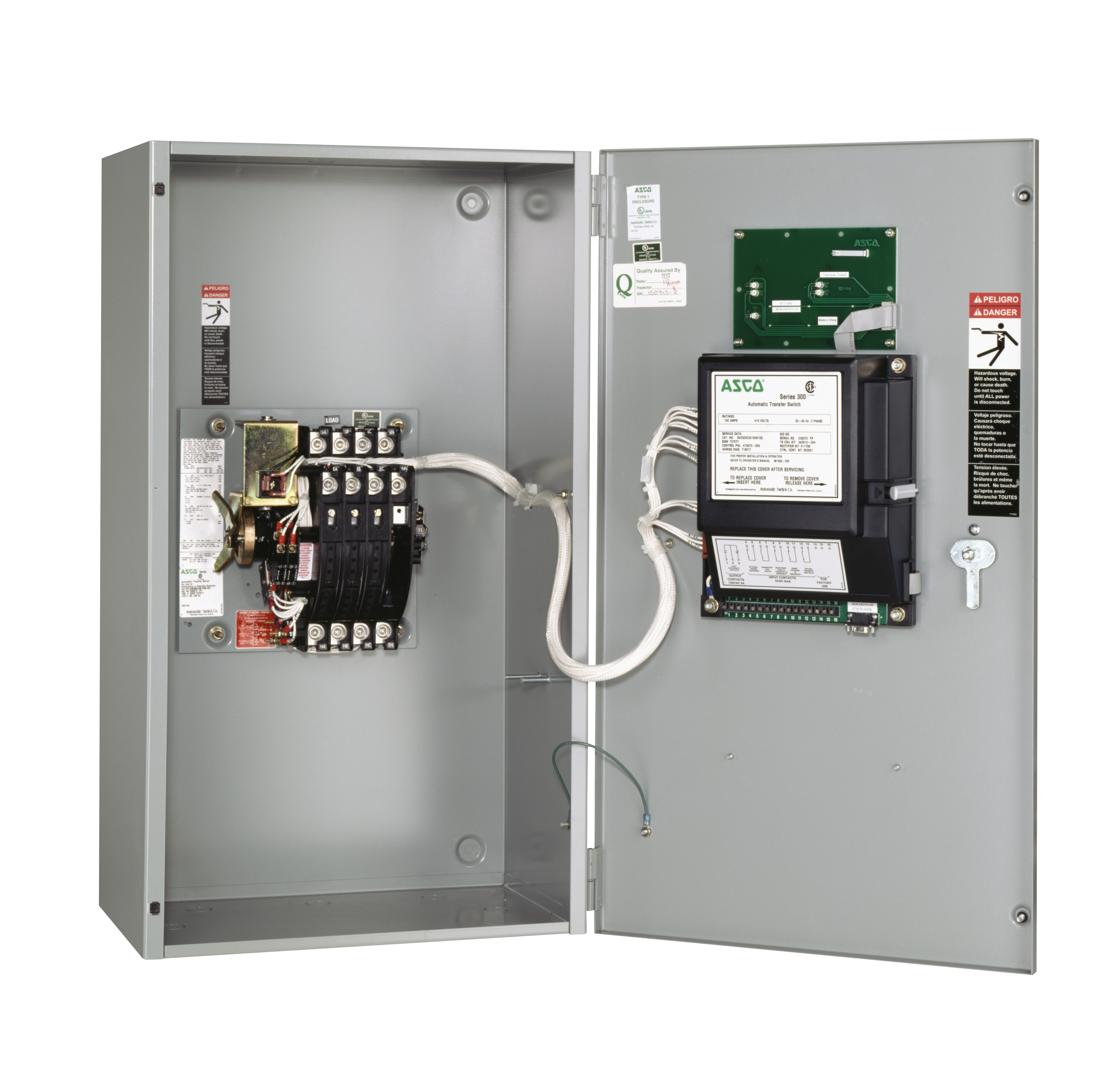 70 amp asco automatic transfer switch - 240 volt
